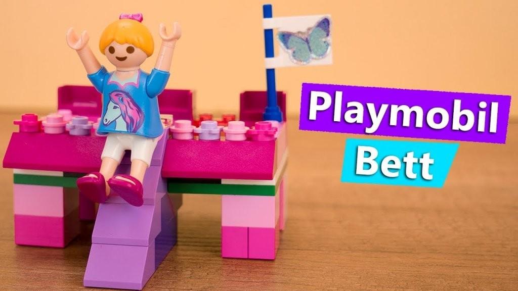 Playmobil Bett Selber Machen Familie Vogel  Prinzessinnen Bett Mit von Prinzessin Bett Selber Bauen Bild