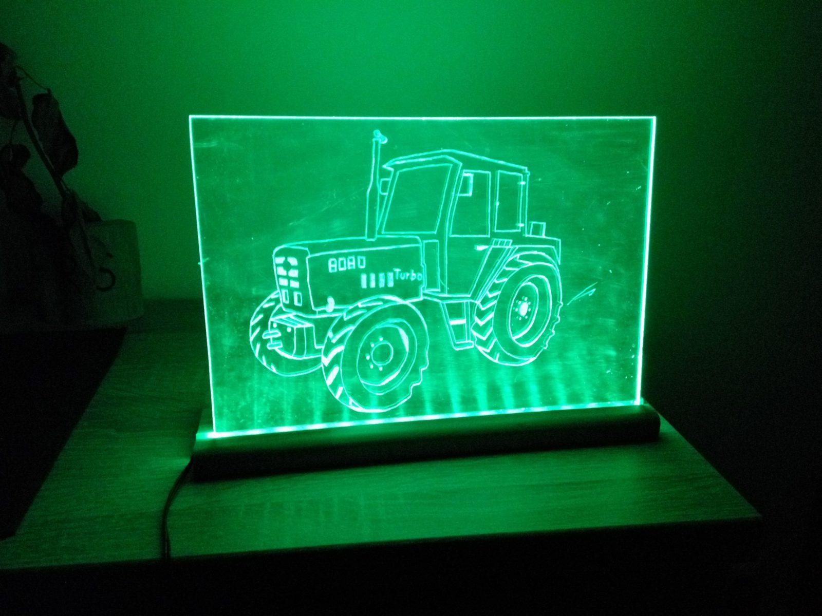 Plexiglas Leuchtbild Bastelanleitung Zum Selber Basteln  Indoor Diy von Led Plexiglas Beleuchtung Bauanleitung Photo