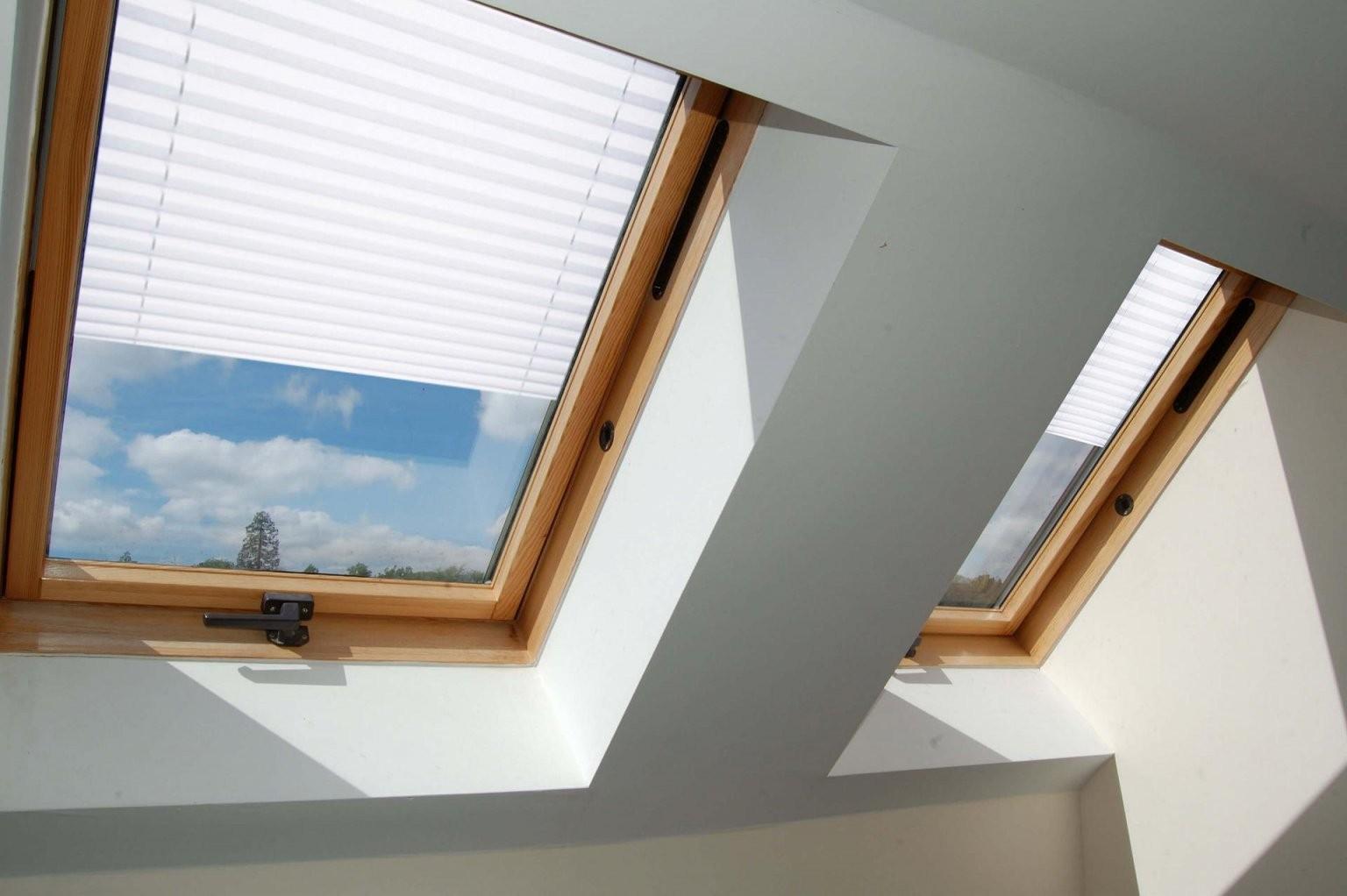 Plissee Dachfenster  Plissee Für Dachfenster Ohne Bohren von Velux Dachfenster Plissee Ohne Bohren Bild