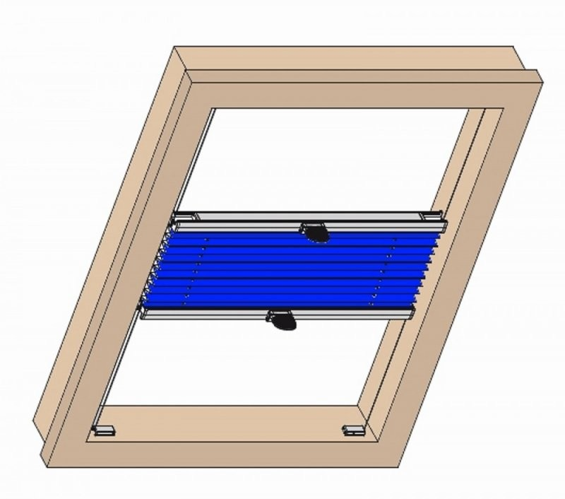 Plissee Jdl Sichtschutz Sonnenschutz Dekoration Roto Dachfenster 310 von Roto Dachfenster Plissee Ohne Bohren Photo