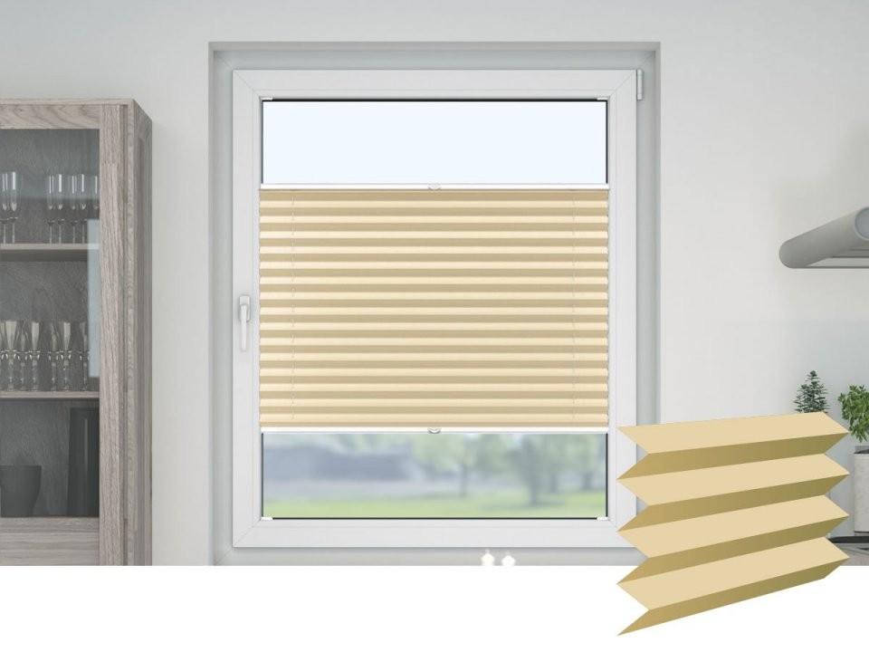 Plissee Ohne Bohren  Klemmfix Plissee Oder Zum Kleben von Sonnenschutz Fenster Innen Ohne Bohren Bild