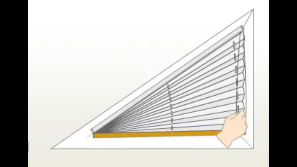 Plisseefunktion Am Dreieckfenster  Youtube von Jalousien Für Dreieckige Fenster Bild