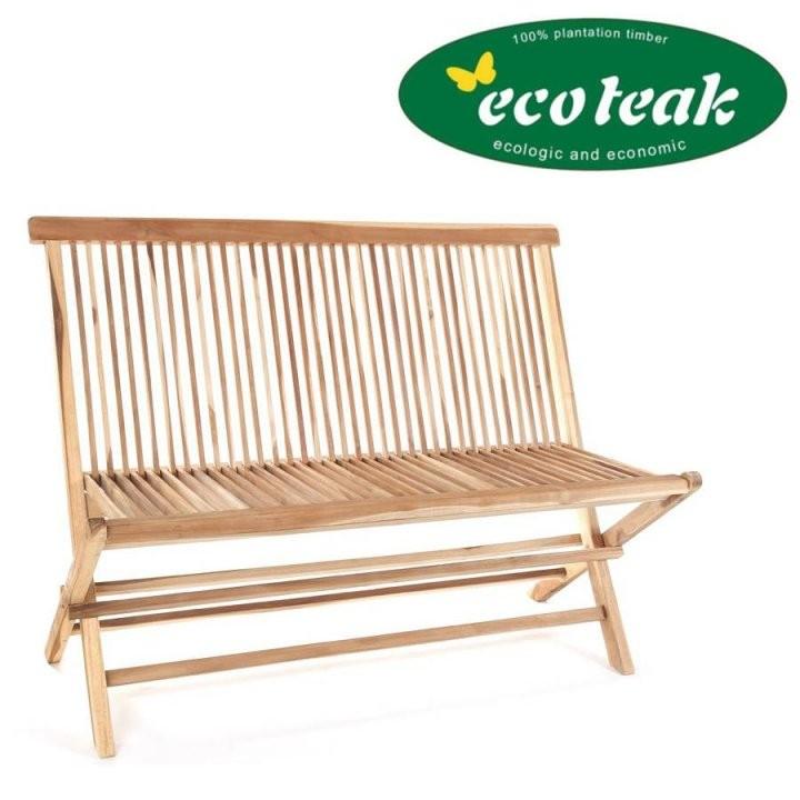 Ploss Eco Teak Holz Klappbare Bank Milford 120 Cm Gartenbank von Gartenbank Holz 120 Cm Bild
