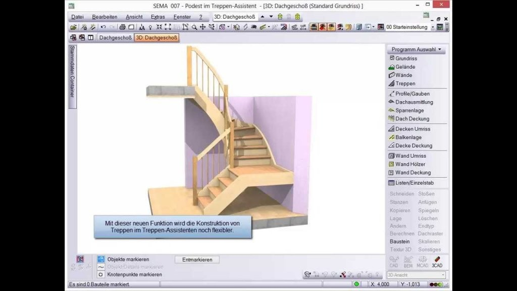 Podest Im Treppen Assistent V142  Youtube von Treppe Mit Podest Berechnen Photo