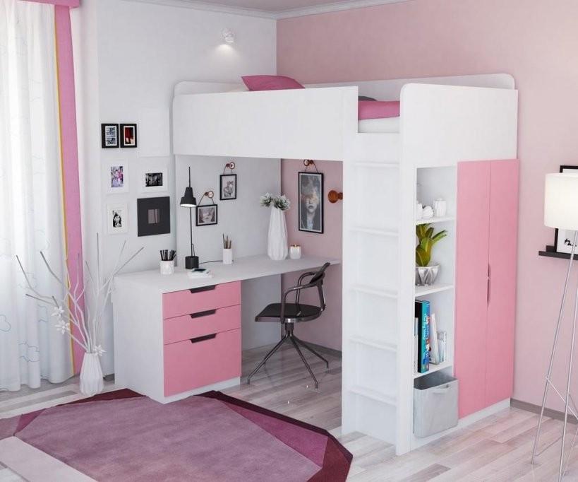 Polini Kids Kinder Hochbett Mit Kleiderschrank Und  Real von Kinderbett Mit Schreibtisch Und Kleiderschrank Photo