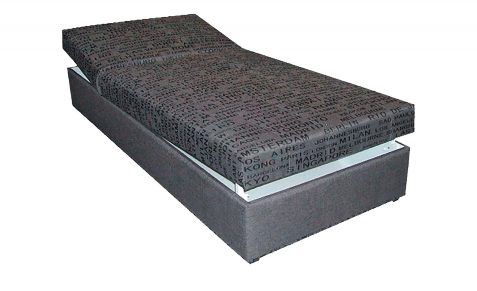 Polsterliege Liegefläche Ca 90X200 Cm  Grau von Polsterliege Mit Bettkasten 90X200 Bild