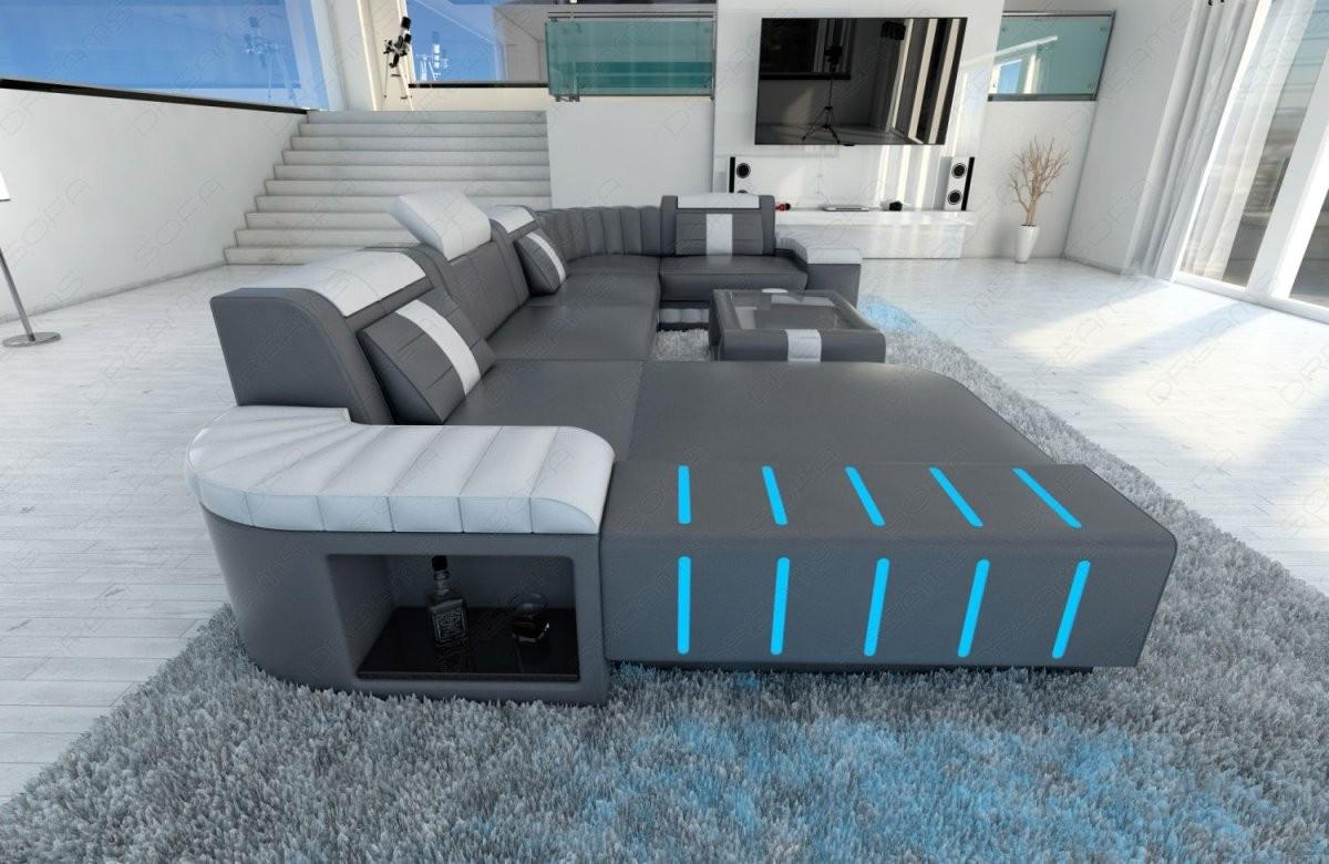 Polstersofa Wohnlandschaft Bellagio U Form Designer Couch Mit Led von Couch Mit Led Beleuchtung Photo