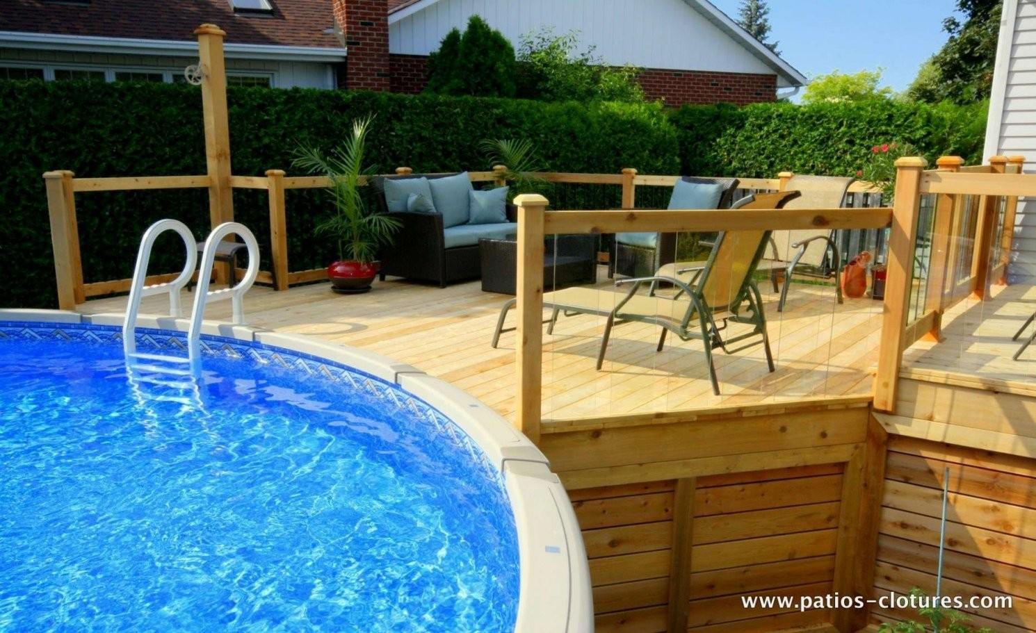 Pool Deck Bauen Inspiration Von Pool Einlassen  Komplette Ideen von Pool Deck Selber Bauen Bild