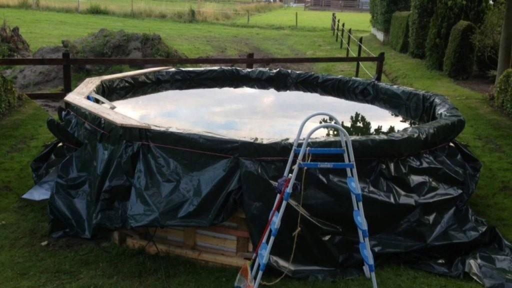 Pool Selber Bauen  Youtube von Pool Aus Paletten Selber Bauen Photo