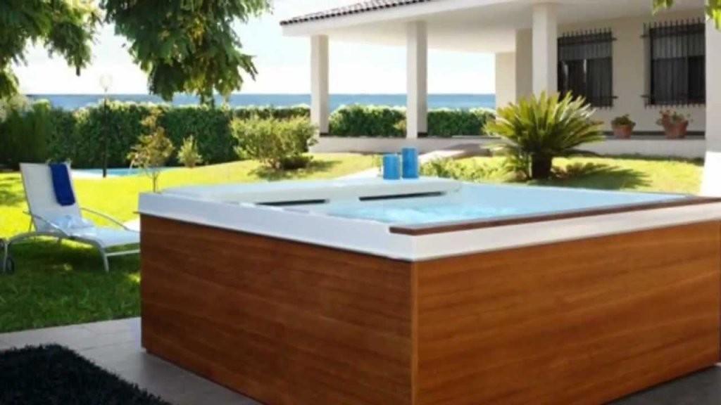 Pool Selber Gebaut  Youtube von Whirlpool Selber Bauen Holz Bild