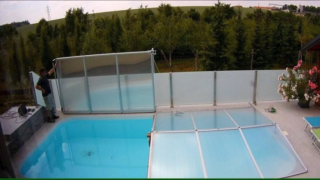 Poolabdeckung Eigenbau  Youtube von Pool Winterabdeckung Selber Bauen Bild