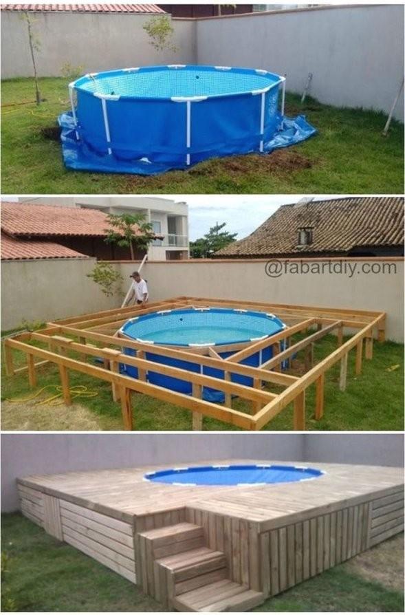 Poolumrandung Holz Selber Bauen Mit 16 Besten Pool Bilder Auf von Pool Deck Selber Bauen Bild