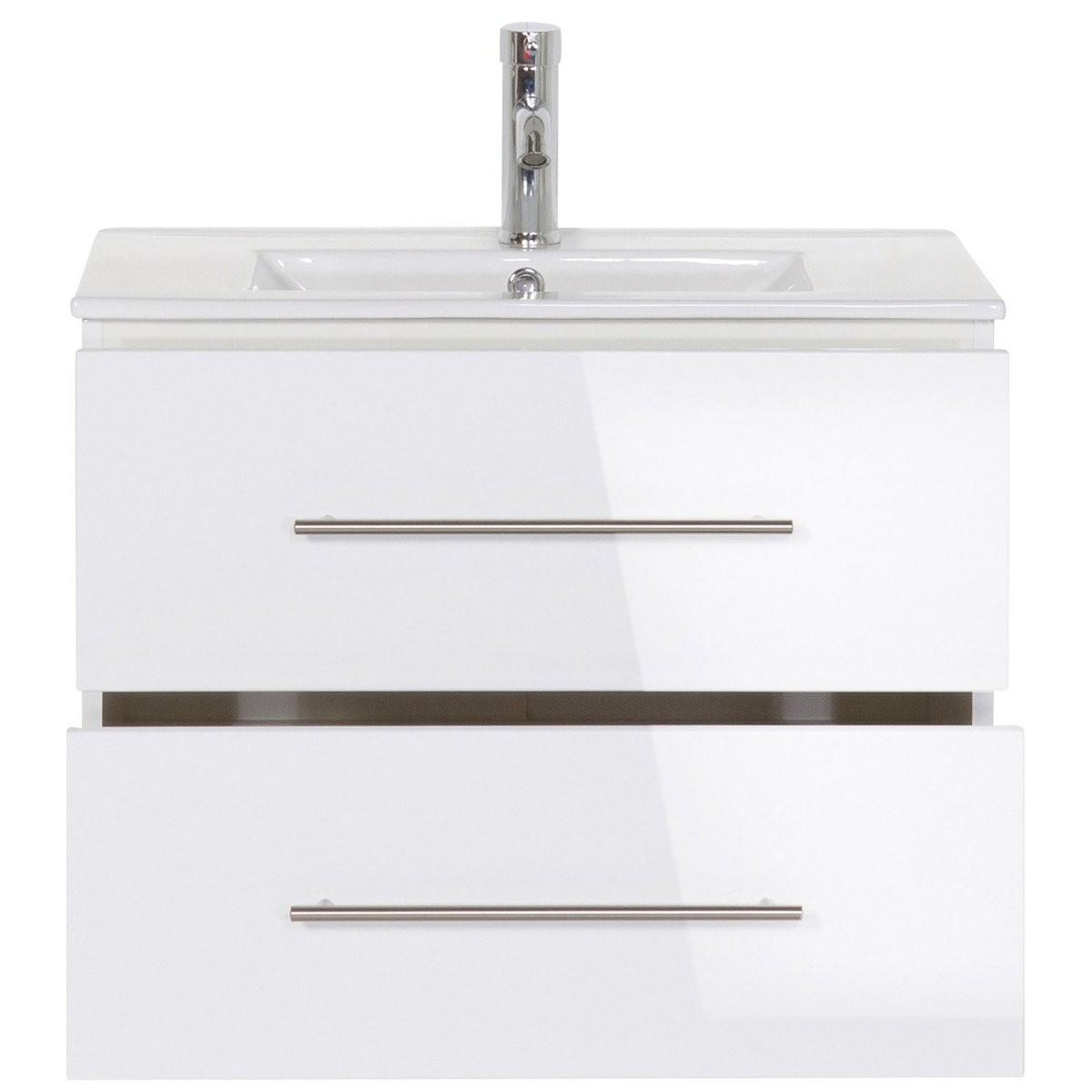 Posseik Waschplatz 70 Cm Homeline Weiß Hochglanz Kaufen Bei Obi von Waschtisch Mit Unterschrank 70 Cm Breit Bild
