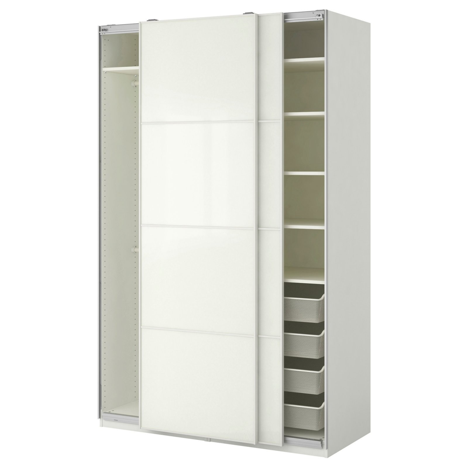 Prestigeträchtig Kleiderschrank Weiß 120 Cm Breit  Sulzerareal von Kleiderschrank Weiß 120 Cm Breit Bild