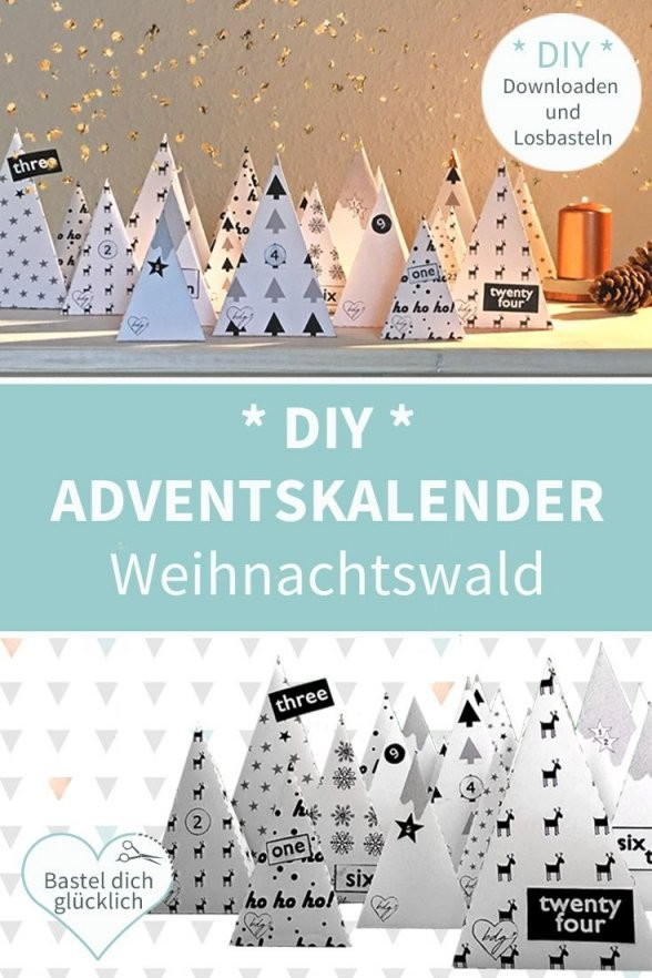 Printable Adventskalender Selber Basteln Ausgefallene von Ausgefallene Adventskalender Selber Basteln Bild