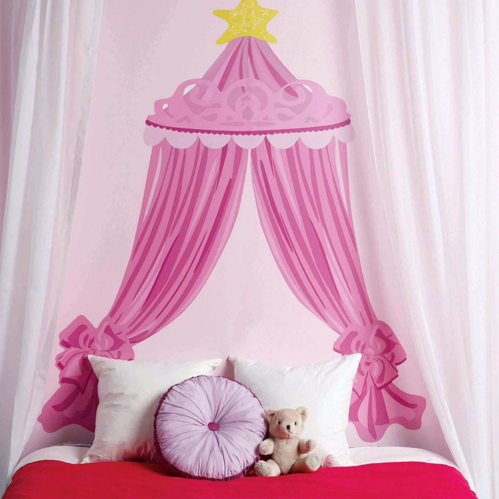 Prinzessin Bett Wallies Wanddekoration Kinderzimmer Wandsticker Rosa von Prinzessin Bett Selber Bauen Bild
