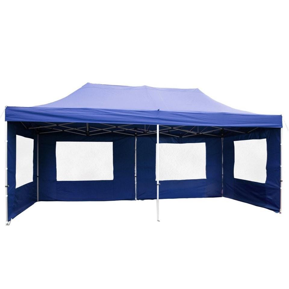 Profi Faltpavillon Partyzelt 3X6 M Blau Seitenteile Dach Wasserdicht von Pavillon 4 X 4 M Wasserdicht Photo