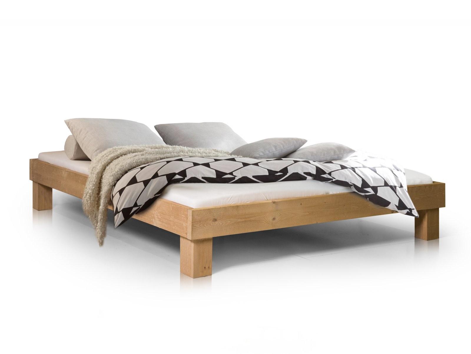 Pumba Doppelbett Futonbett 160X200 Massivholz Fichte Eichefarbig von Bett Weiß Ohne Kopfteil Photo