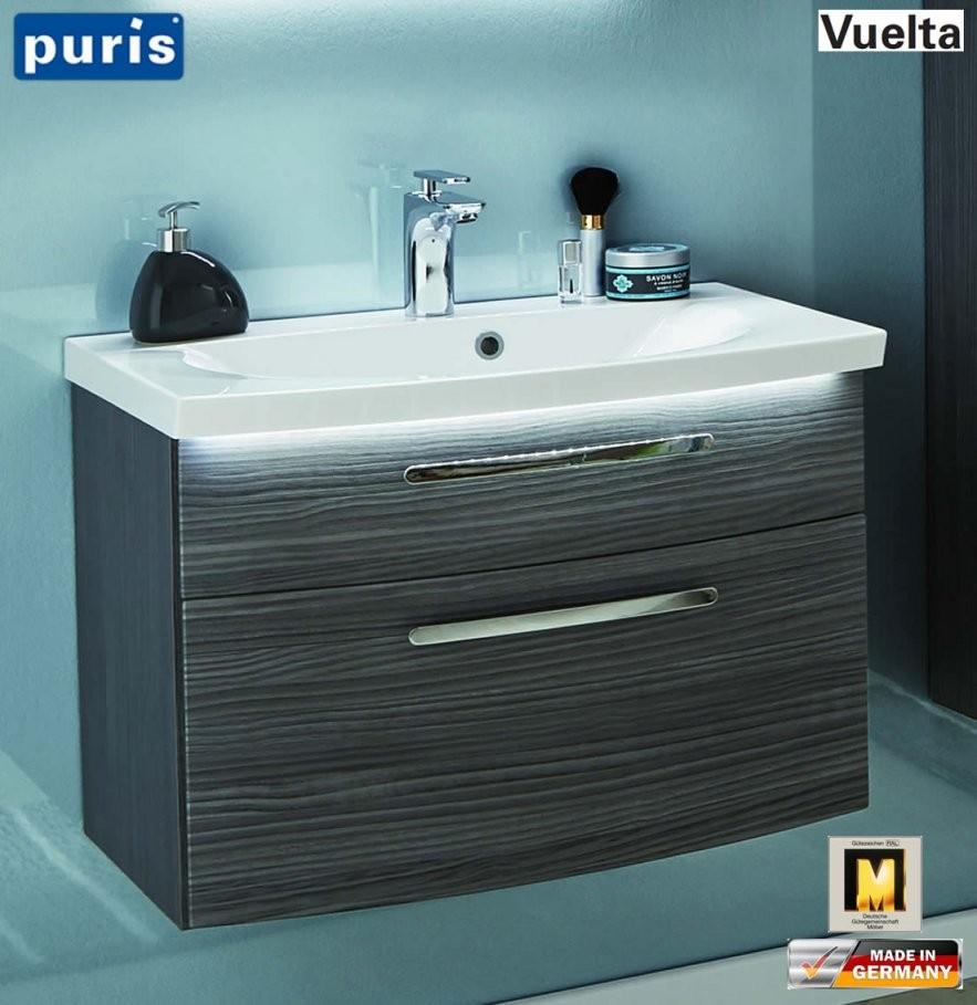 Puris Vuelta Waschtischset 71 Cm Mit Mineralmarmorwaschtisch Und von Waschtisch Mit Unterschrank 70 Cm Breit Photo