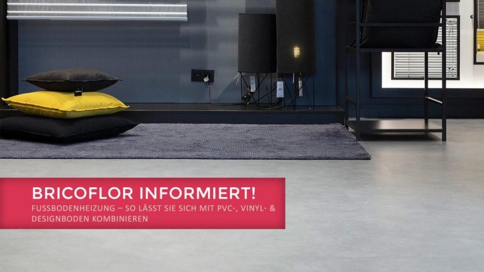 Pvc  Designboden Mit Einer Fußbodenheizung Kombinieren  Bricoflorblog von Vinylboden Auf Fliesen Mit Fussbodenheizung Verlegen Photo