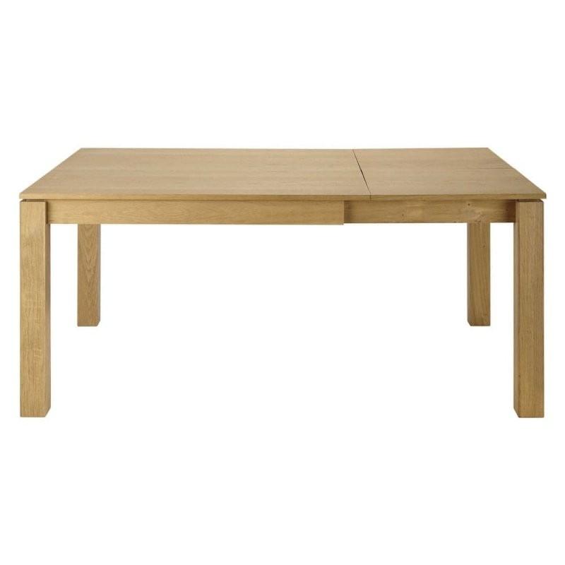 Quadratischer Ausziehbarer Esstisch 4 Bis 8 Personen Aus Eiche L120 von Quadratischer Esstisch Für 8 Personen Bild