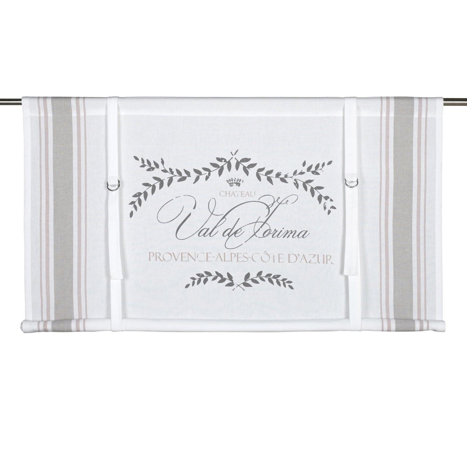 Raffgardine Weiss Beige Creme Rosa Baumwolle Cotton Shabby Landhaus von Raffgardine 90 Cm Breit Photo