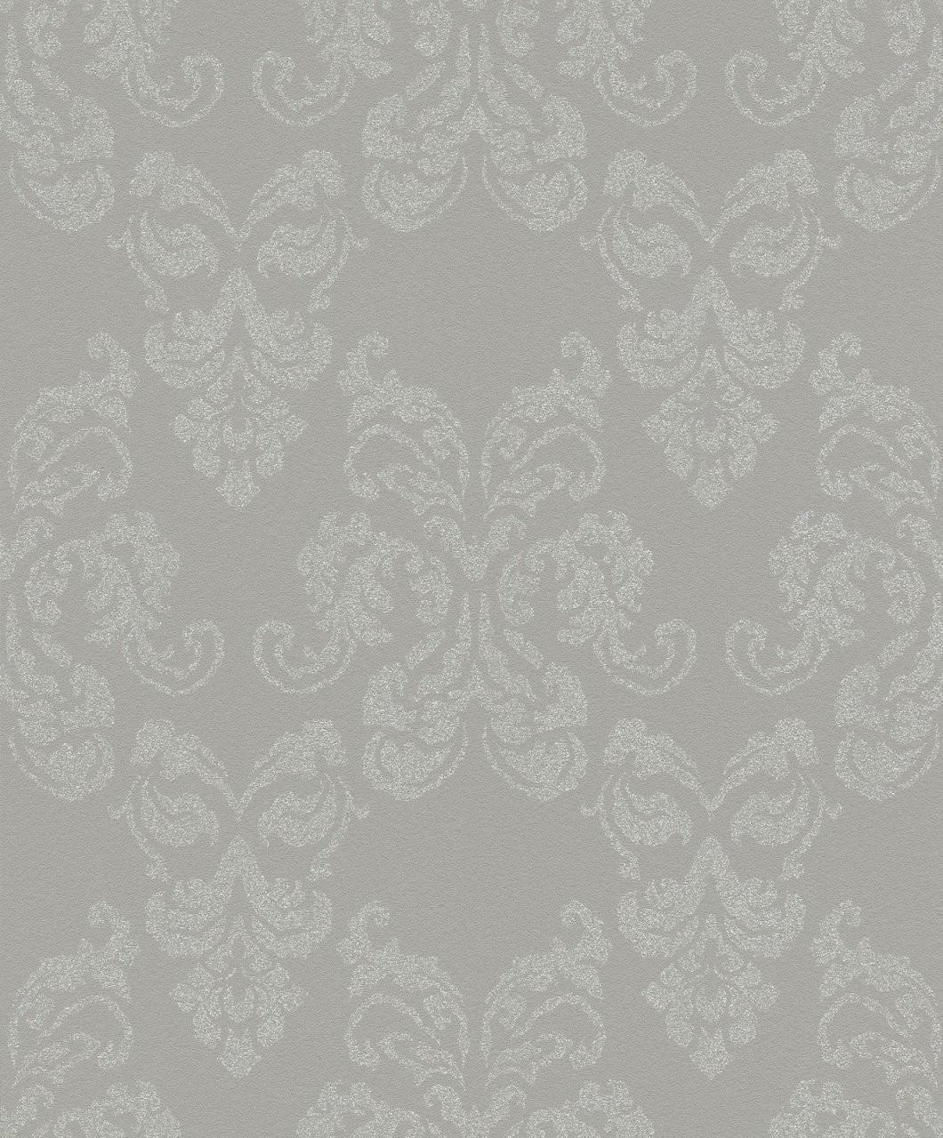 Rasch Vlies Tapete Ornament Grau Silber Glitzer 503814 von Graue Tapete Mit Glitzer Photo