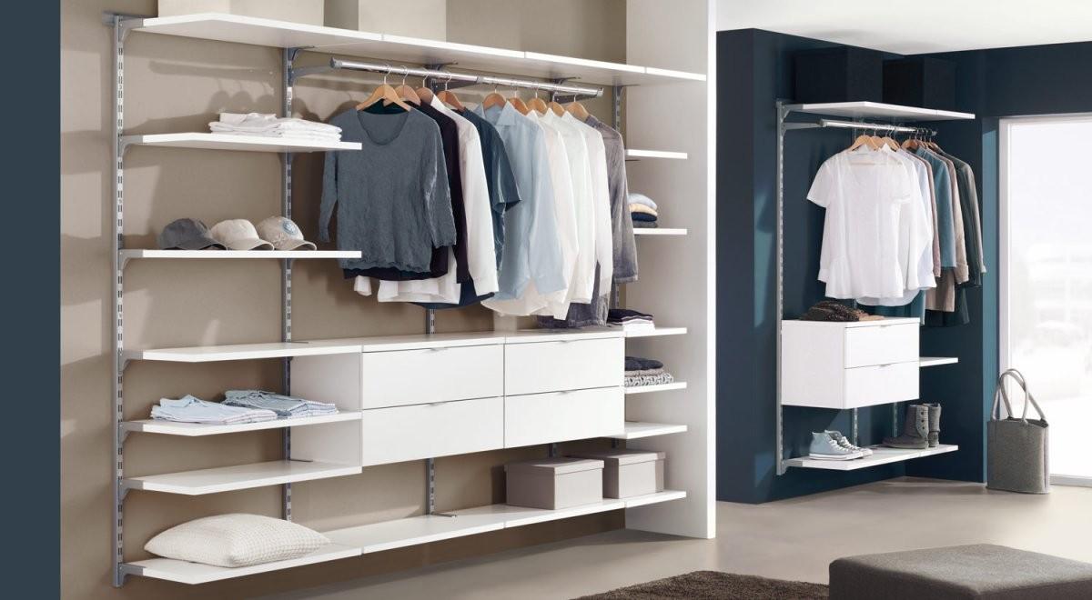 Regalsystem Kleiderschrank  Kleiderschranksystem  Regalraum von Begehbarer Kleiderschrank System Günstig Bild