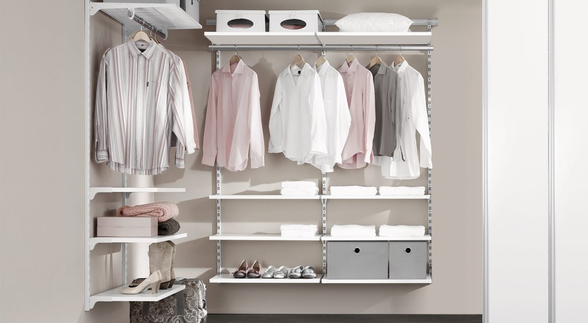 Regalsystem Kleiderschrank  Kleiderschranksystem  Regalraum von Offenen Kleiderschrank Selber Bauen Bild