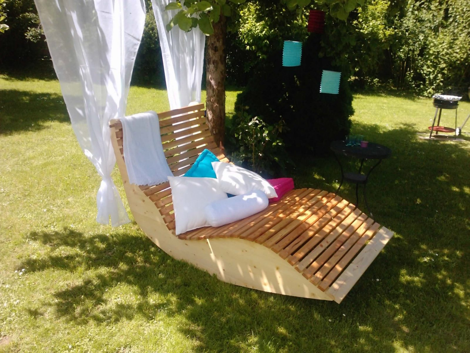 Relax Liege Xxl Für 2 Personen Bauanleitung Zum Selber Bauen von Schaukelliege Holz Selber Bauen Bild