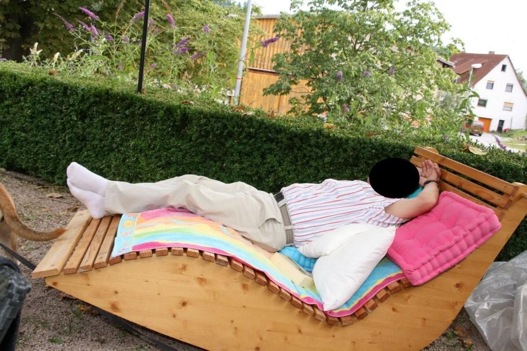 Relax Liege Xxl Für 2 Personen  Bauanleitung Zum Selberbauen  12 von Relaxliege Für 2 Personen Bild