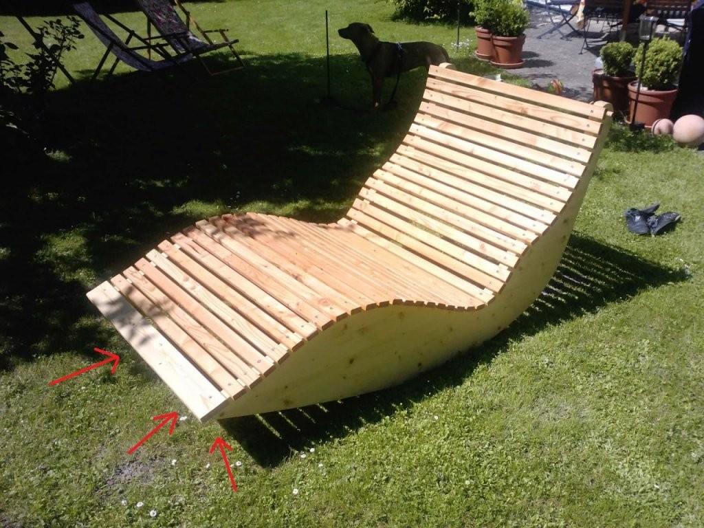 Relax Liege Xxl Für 2 Personen  Bauanleitung Zum Selberbauen  12 von Schaukelliege Holz Selber Bauen Bild
