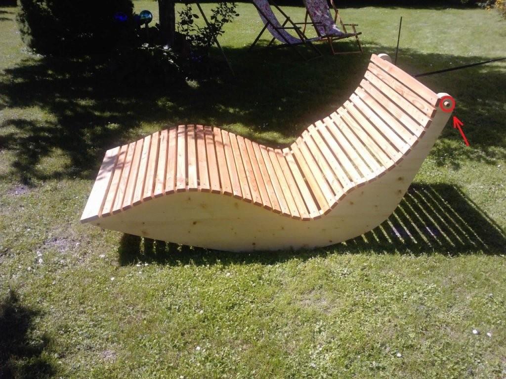 Relax Liege Xxl Für 2 Personen  Bauanleitung Zum Selberbauen  12 von Schaukelliege Holz Selber Bauen Photo