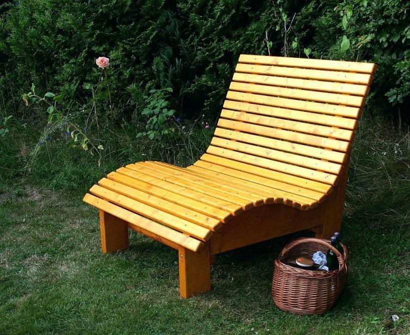 Relaxliege Holz Mia Farbton Kiefer Garten Bauanleitung Selber Bauen von Schaukelliege Holz Selber Bauen Bild