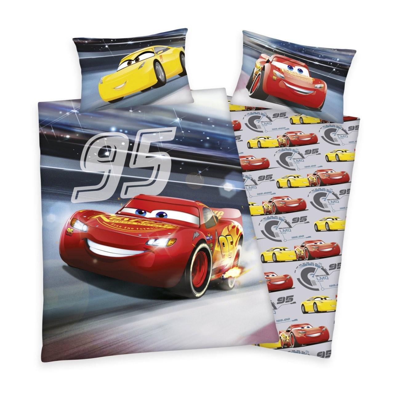 Renforcébettwäsche Cars 3  Grau  135X200 Cm  Online Bei Roller von Bettwäsche Cars 135X200 Bild