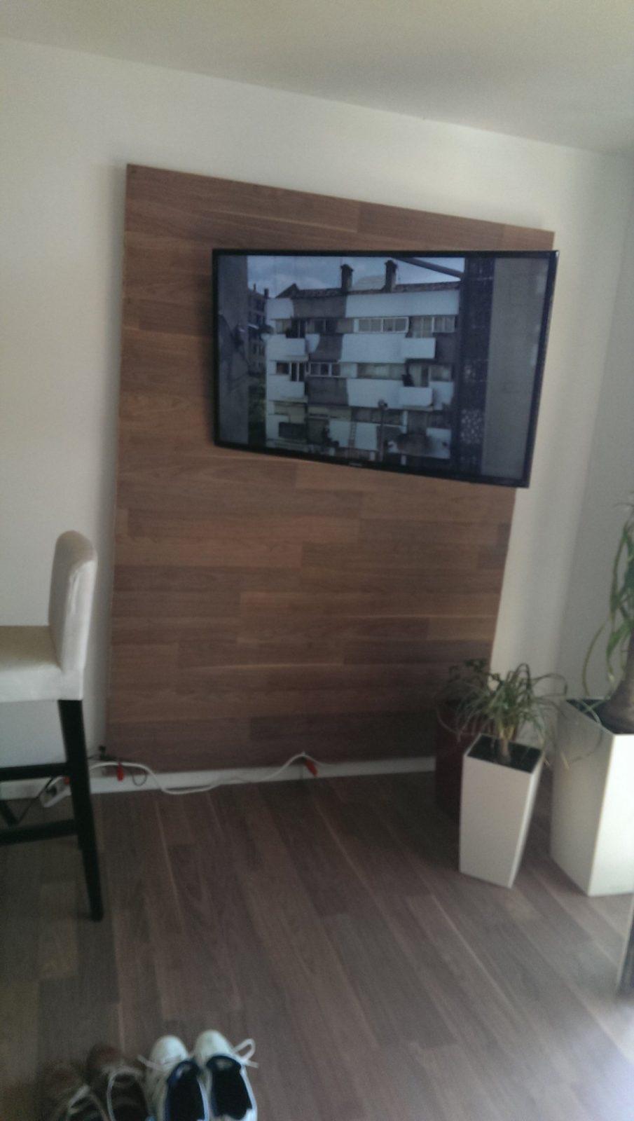 Renovierungstipp – Eine Kleine Tv Wand Selber Bauen  Boschert von Tv Wand Selber Bauen Laminat Photo