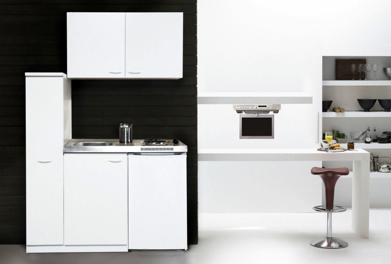 Respekta Küche Miniküche Küchenzeile Küchenblock Single Pantryküche von Pantryküche 100 Cm Mit Kühlschrank Photo