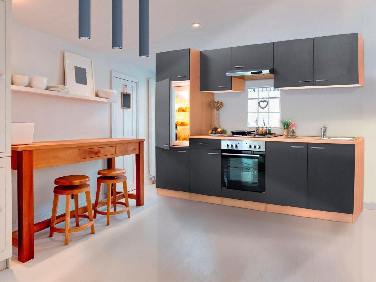 Respekta Küchenblock 270 Cm Buche  Lidl von Küchenzeile Mit Elektrogeräten Ohne Kühlschrank Bild