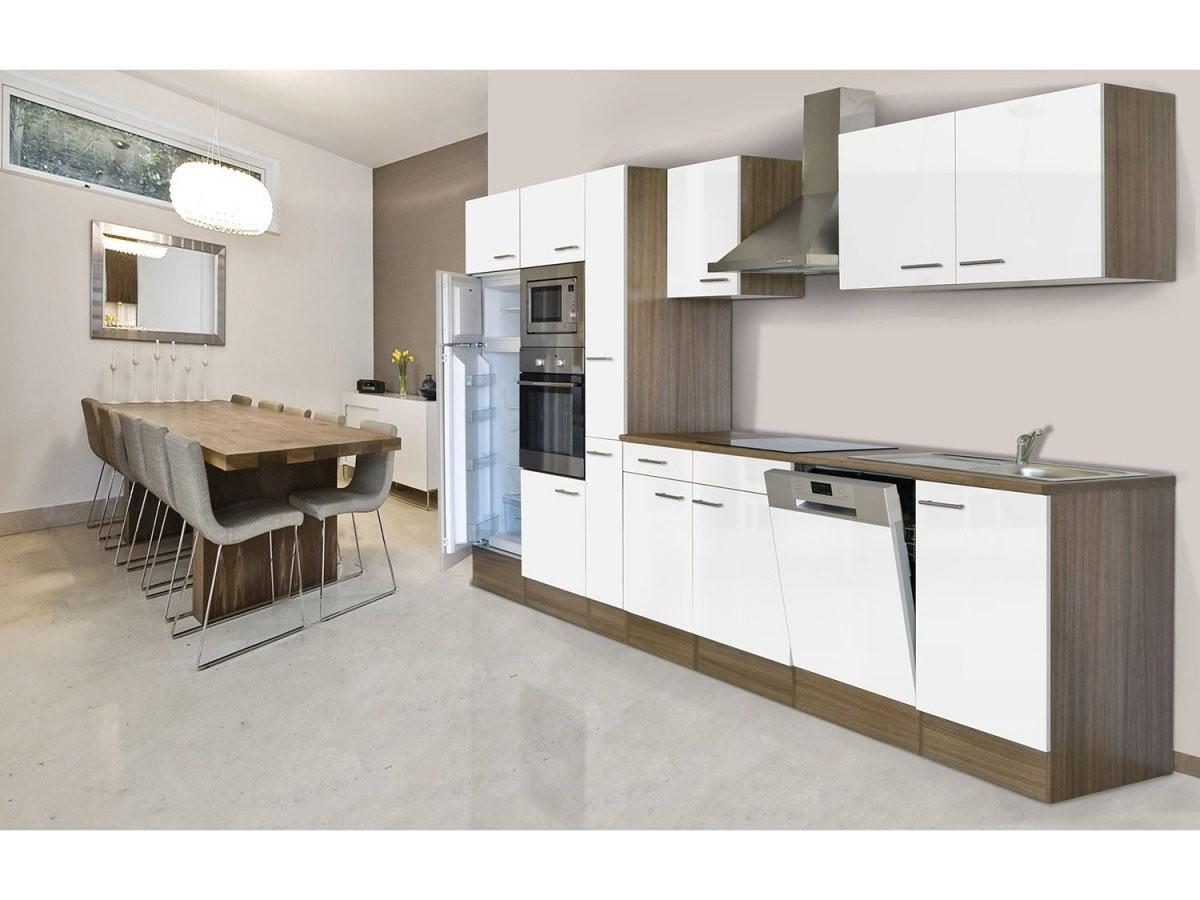 Respekta Küchenzeile 370 Cm Eiche York  Lidl von Küchenzeile Mit Elektrogeräten Ohne Kühlschrank Photo