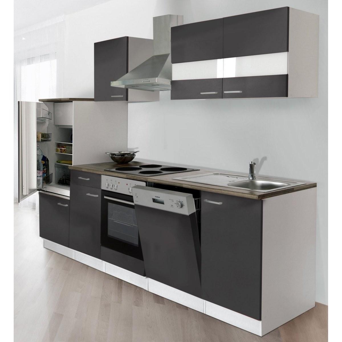 Respekta Küchenzeile Ohne Egeräte Lbkb280Wg 280 Cm Grauweiß Kaufen von Küche Mit E Geräten Ohne Kühlschrank Bild