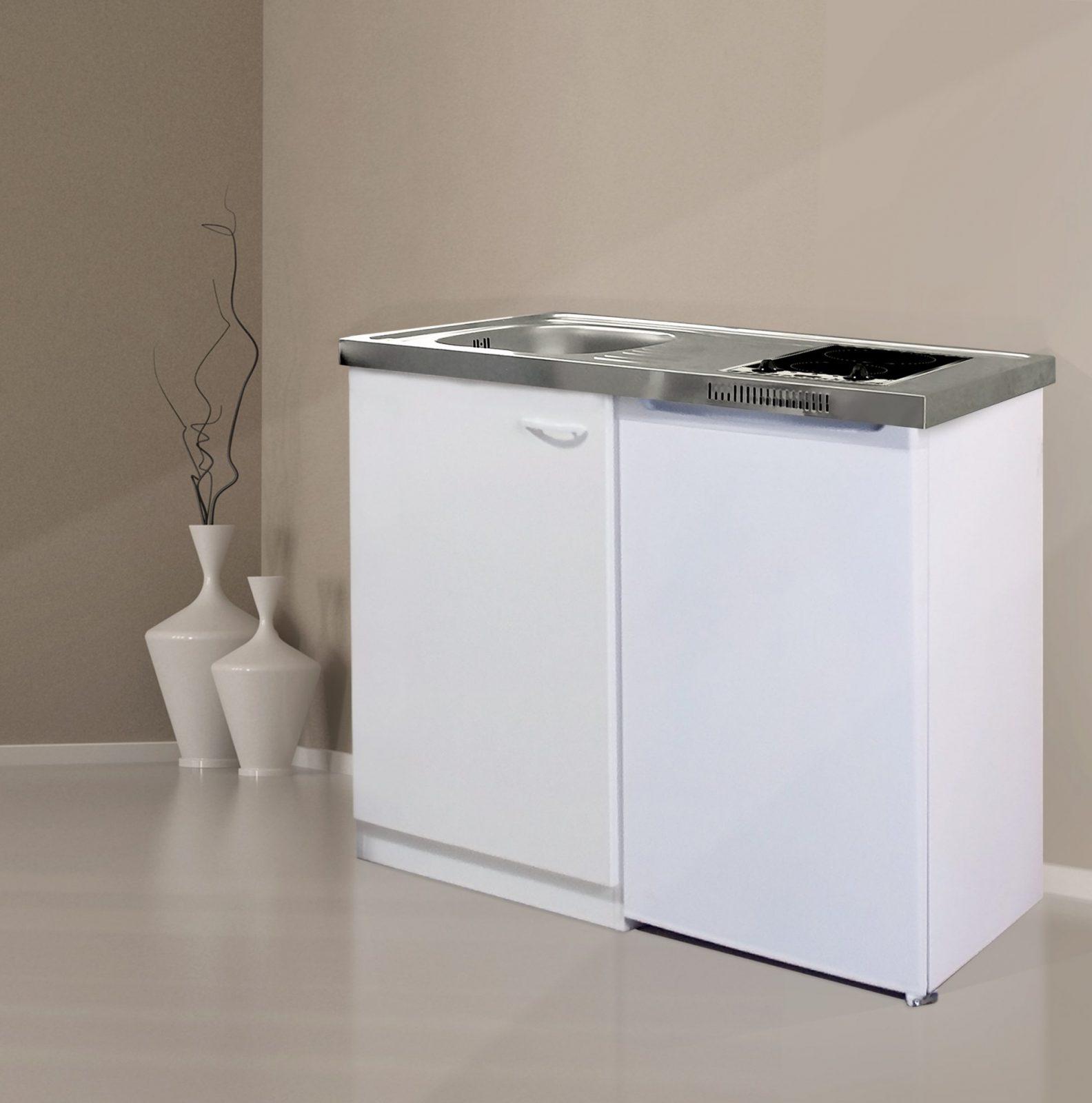 Respekta Miniküche Küche Küchenzeile Küchenblock Single Pantryküche von Pantryküche 100 Cm Mit Kühlschrank Photo