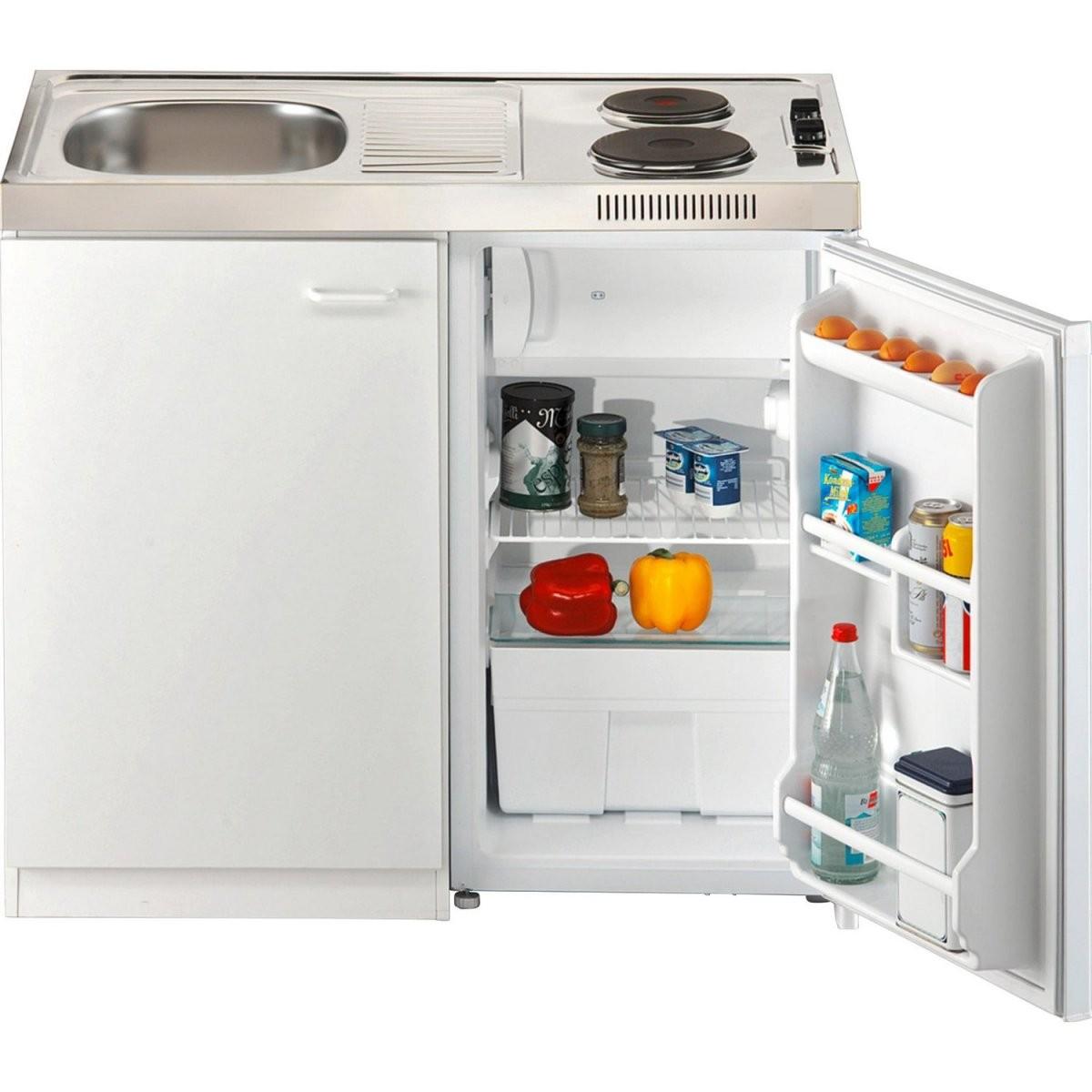 Respekta Miniküche Pantry 100S 100 Cm Weiß Kaufen Bei Obi von Kühlschrank 100 Cm Breit Photo