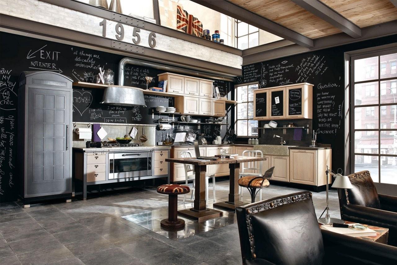 Retroküche Coole Trendküchen  Edle Landhausküchen von Küchen Im Vintage Stil Bild