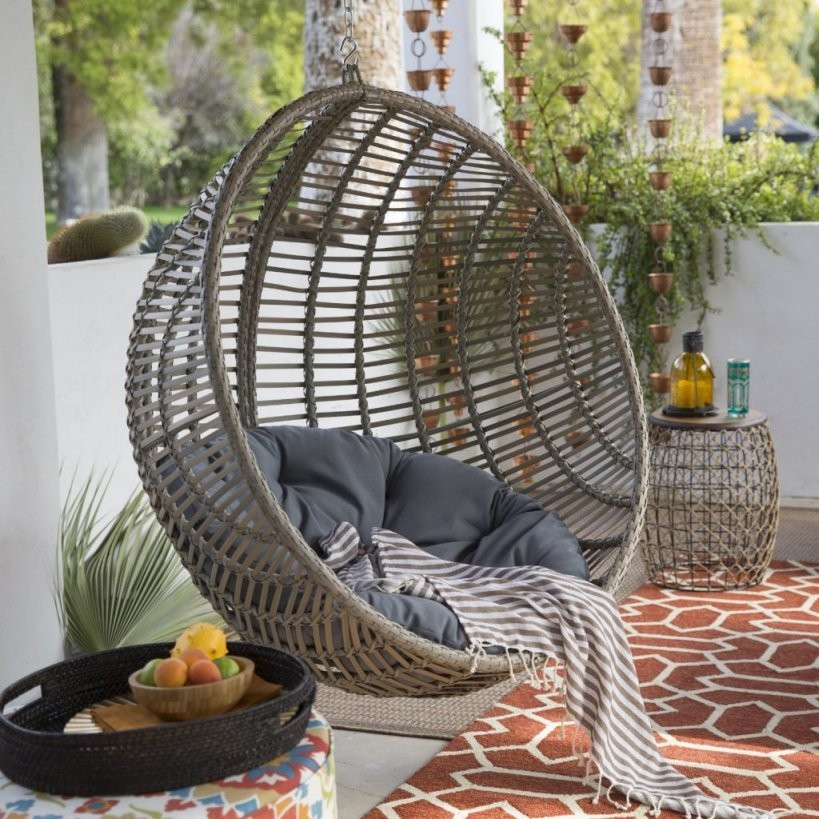 Review Wicker Hanging Chair With Standisland Bay von Round Rattan Swing Bed Photo