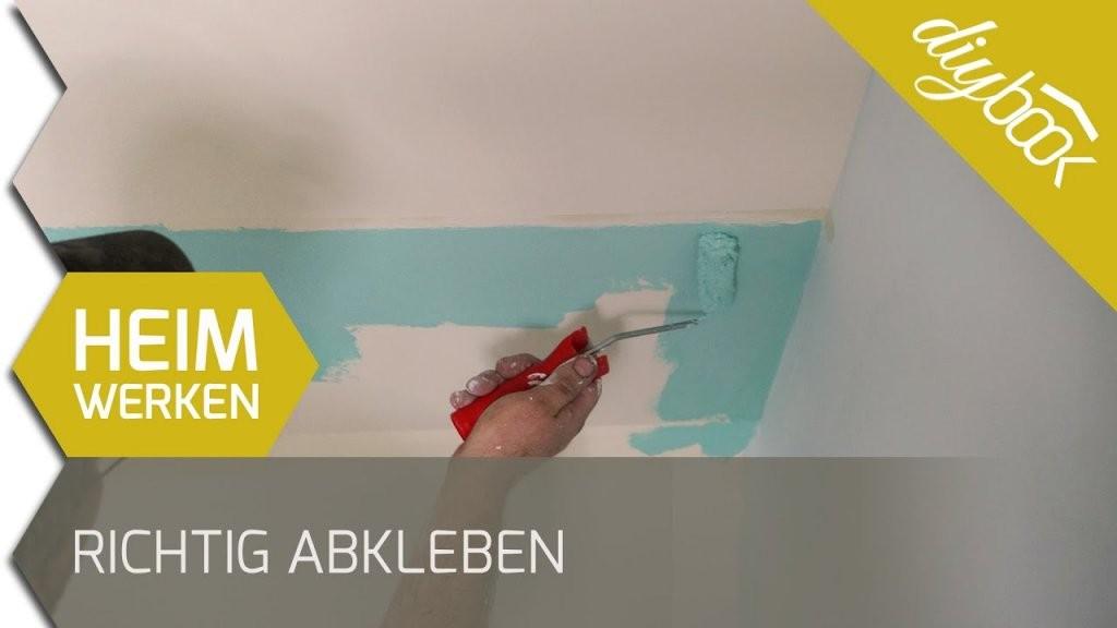 Richtig Abkleben  Saubere Kanten Bei Mehrfarbiger Wand  Youtube von Wand Streichen Muster Abkleben Bild