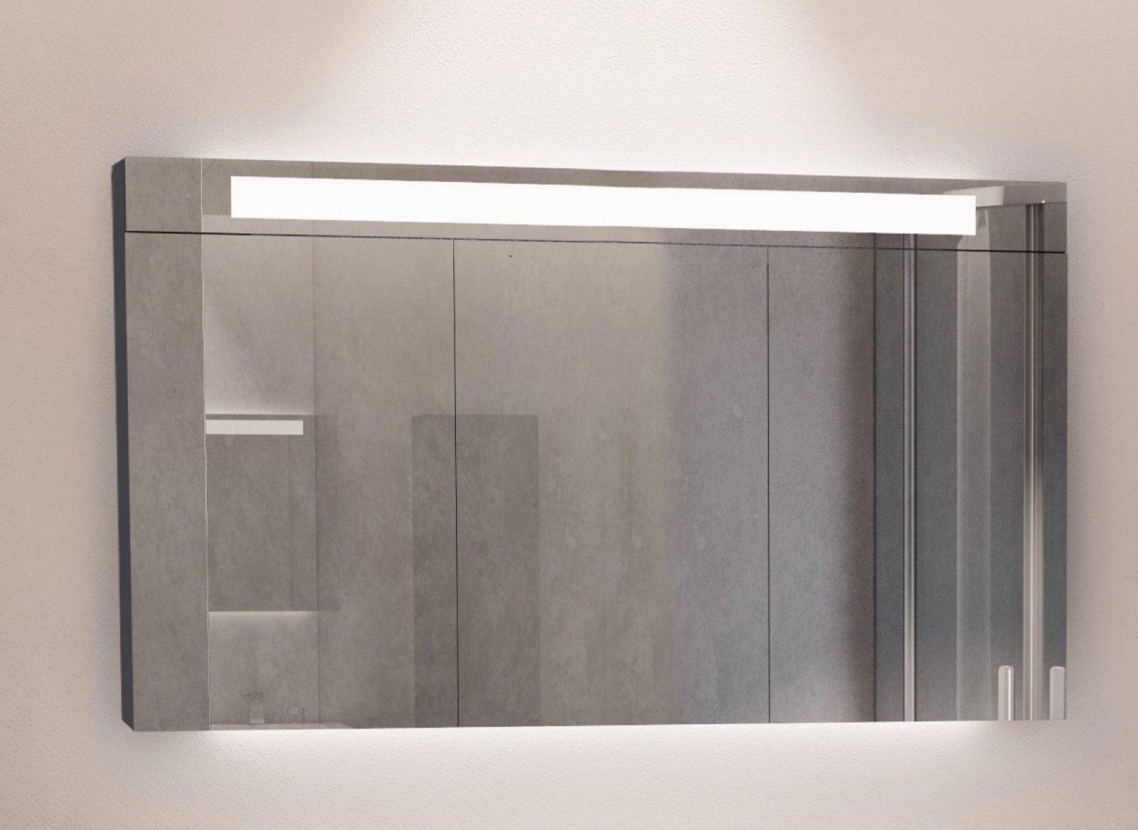 Riho Bringt Den Spiegelschrank Mit Integrierter Beleuchtung Auf Den von Bad Spiegelschrank Mit Beleuchtung Günstig Photo