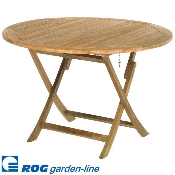 Roggemann Tl8109 Teak Holz Tisch Rund Klappbar 120 Cm Gartentisch von Gartentisch Holz Rund 120 Photo