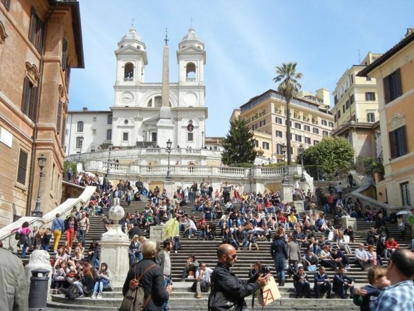 Rom – Ewige Stadt – Elke  Matthias von Spanische Treppe Rom Gesperrt Bild