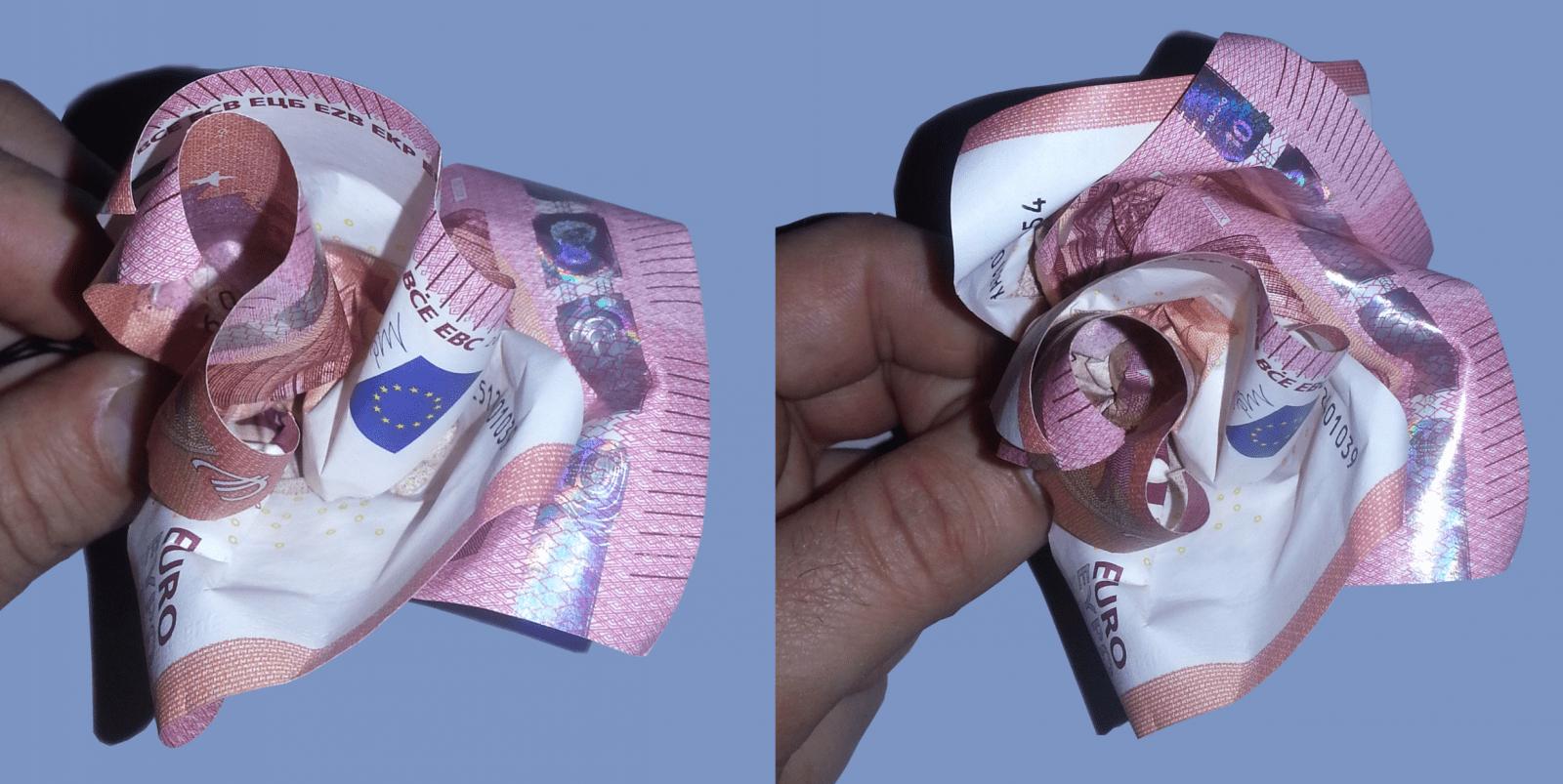 Rose Aus Geldscheinen Falten  Origami Mit Geldscheinen von Blumen Falten Aus Geld Bild