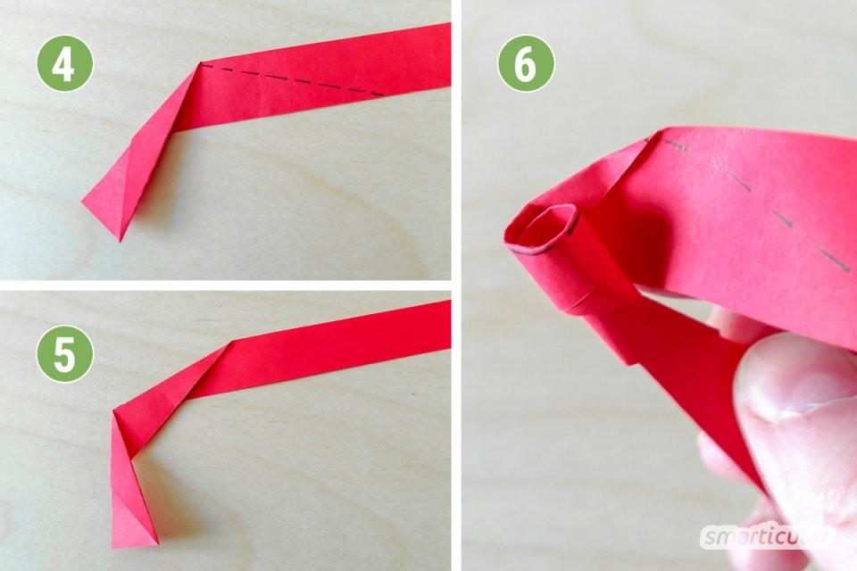 Rosen Einfach Aus Papier Falten  Nachhaltig Und Langlebig von Einfache Blumen Falten Anleitung Bild
